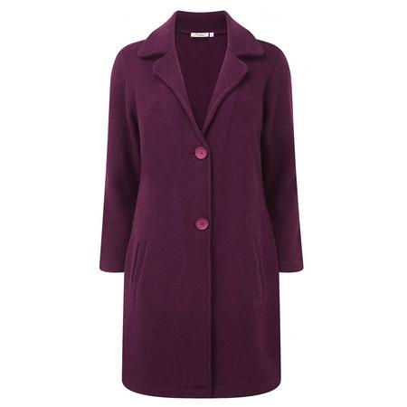 Adini Boucle Boiled Wool Aurora Coat - Purple