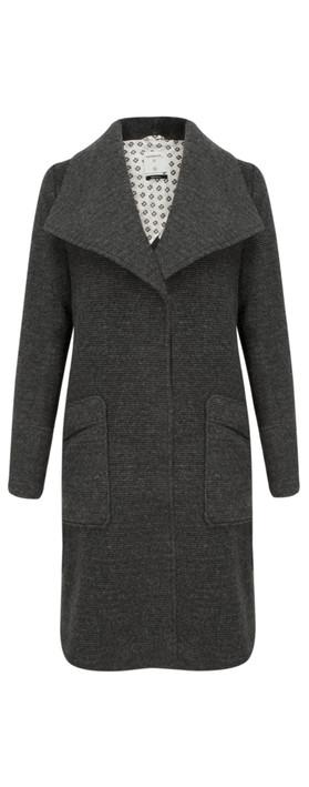 Sandwich Clothing Longline Wool Coat Grey Magnet