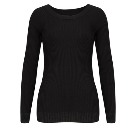 Lauren Vidal Leny Fitted Rib Knit - Black