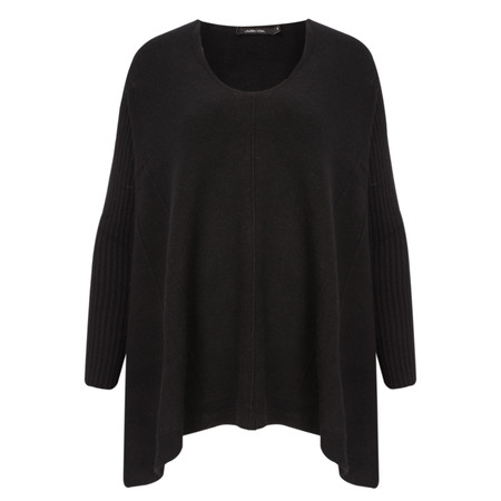 Lauren Vidal Cosy Revital Loose Knit Top - Black