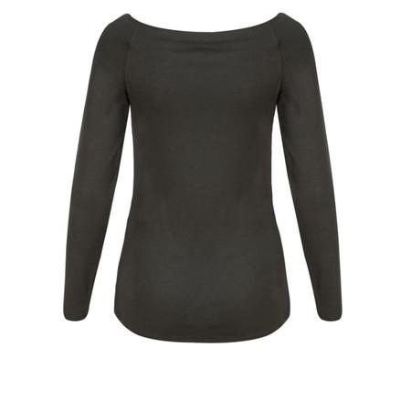 Lauren Vidal Flow Soft Jersey Top - Grey