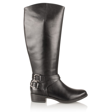 Tamaris  Leather Long Boot - Black