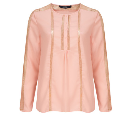 French Connection Polly Plains Lace Blouse - Pink