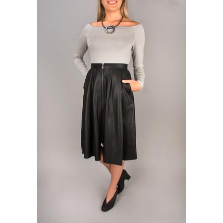 Lauren Vidal Flow Soft Jersey Top - Off-white
