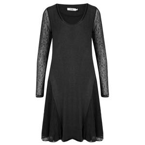 Myrine Lilas Mesh Tunic Dress