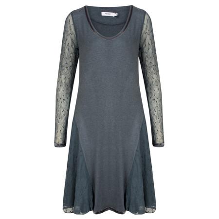 Myrine Lilas Mesh Tunic Dress - Blue