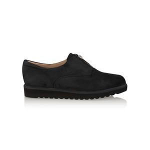 KMB Bugui Suede Zip Up Shoe