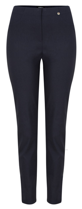 Robell Trousers Bella 78cm Slim Full Length Trouser Navy