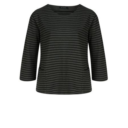 Two Danes Hatice Striped Top - Grey