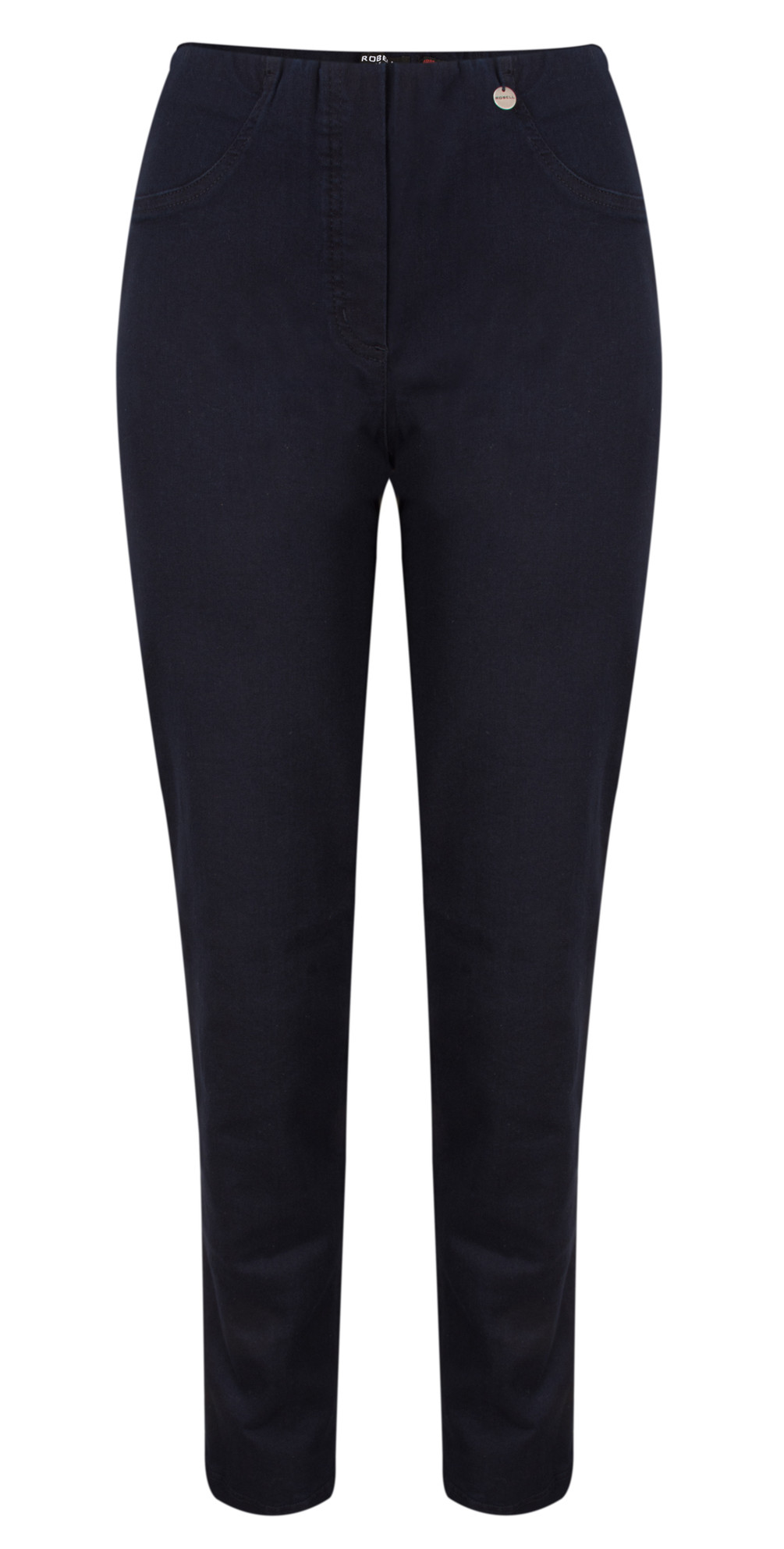 a5cbc716589b Robell Trousers Bella Slim Fit Full Length Jean in Dark Navy