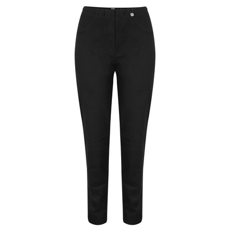 Robell Bella  Black Slim Fit Full Length Jean - Black