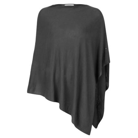 Sandwich Clothing Basic Soft Knit Poncho - Grey