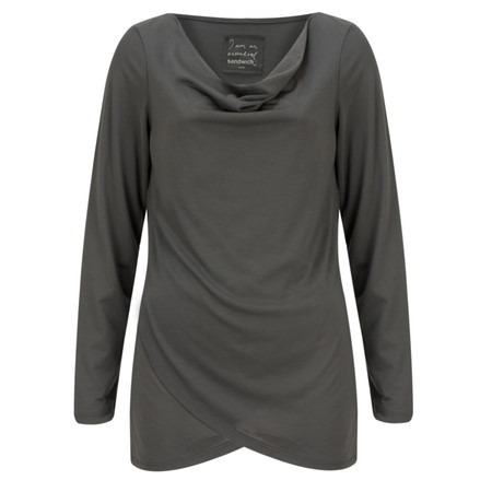 Sandwich Clothing Draped Essential Jersey Top - Grey