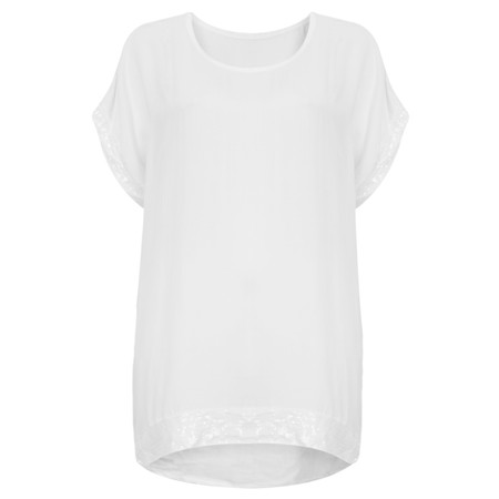TOC  Betsy Sequin Trim Top - White
