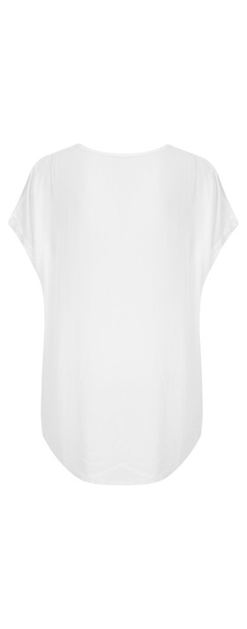 TOC  Betsy Sequin Trim Top White