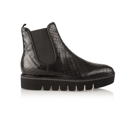 Kennel Und Schmenger Cracked Effect Leather Union Ankle Boot - Black