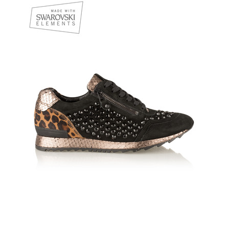 Kennel Und Schmenger Runner Kombi Trainer Shoe With Swarovski Crystals - Black