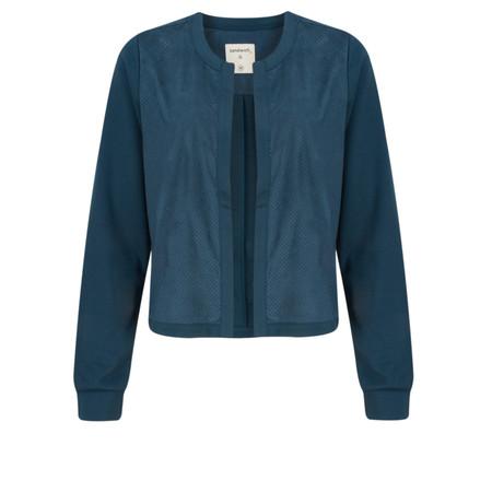 Sandwich Clothing Open Front Faux Suede Jacket - Blue
