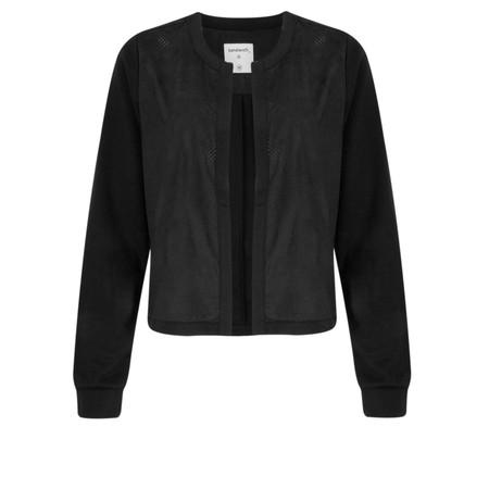 Sandwich Clothing Open Front Faux Suede Jacket - Black