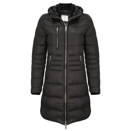 Sandwich Clothing Shiny Nylon Quilted Coat - Black