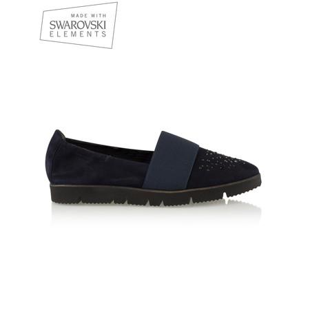 Kennel Und Schmenger Pia X Crystal Shoe With Swarovski Crystal - Black