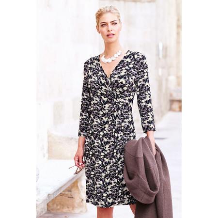 Adini Delilah Print Amelia Dress - Black
