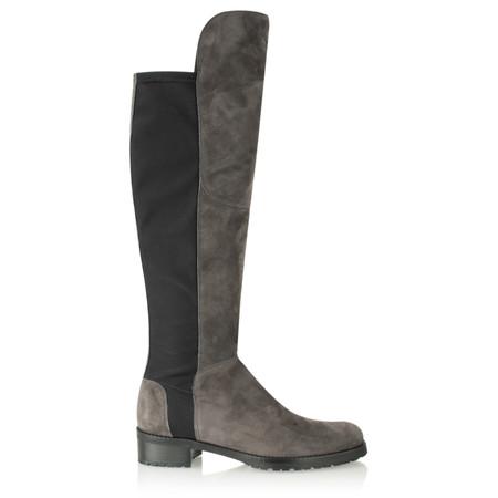 Kennel Und Schmenger Blues Suede Long Flat Boot - Grey