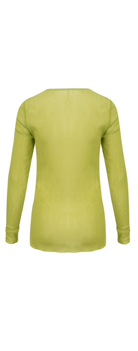 Vetono Essential Fitted Mesh Top Golden Green