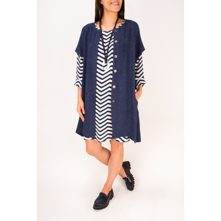 Masai Clothing A-Shaped Jordana Jacket - Blue