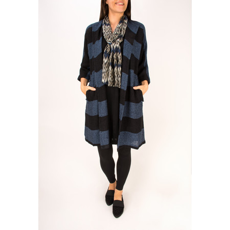 Masai Clothing Striped Josefa Jacket - Blue