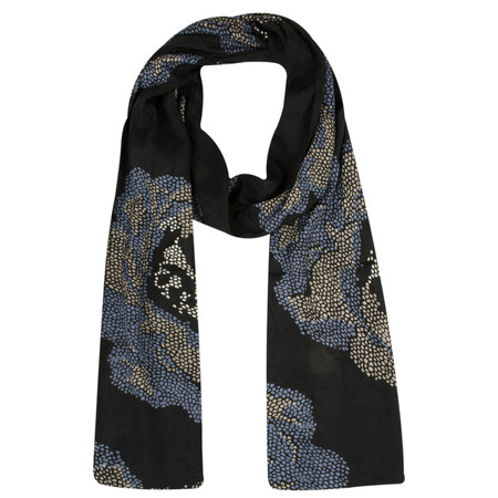 Masai Clothing Floral Dotted Along Scarf - Blue