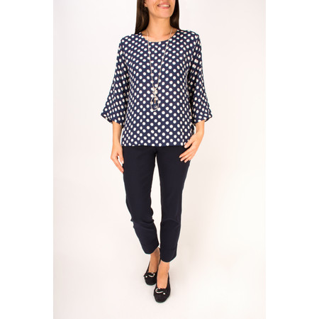 Robell Trousers Bella 7/8 Cropped Trouser  - Blue