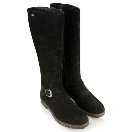 Caprice Footwear Suede Buckle Boot - Black