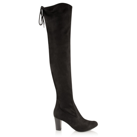 Caprice Footwear Faux Suede Over Knee Boot - Black