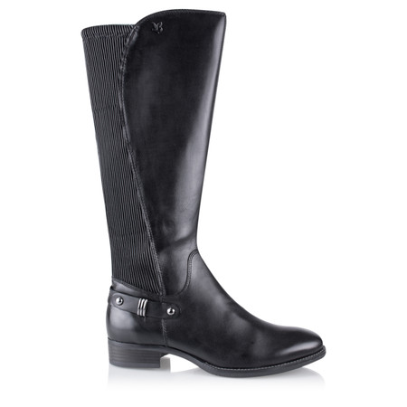 Caprice Footwear Karla Elasticated Long Boot - Black