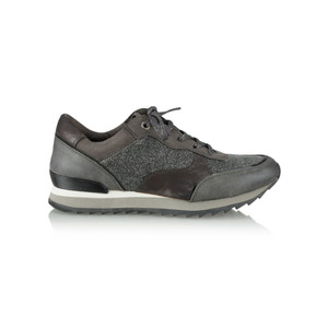 Marco Tozzi Metallic Mix Trainer Shoe