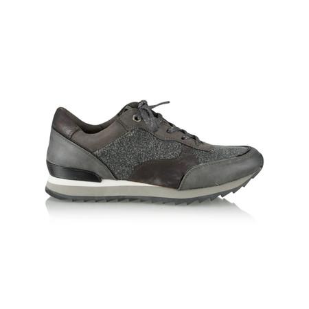 Marco Tozzi Metallic Mix Trainer Shoe - Metallic