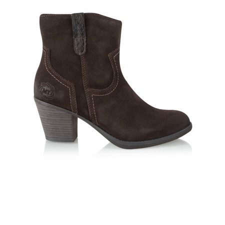 Marco Tozzi Leather Ankle Boot - Brown