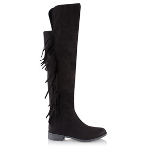Marco Tozzi Imit Suede Tassel Long Boot