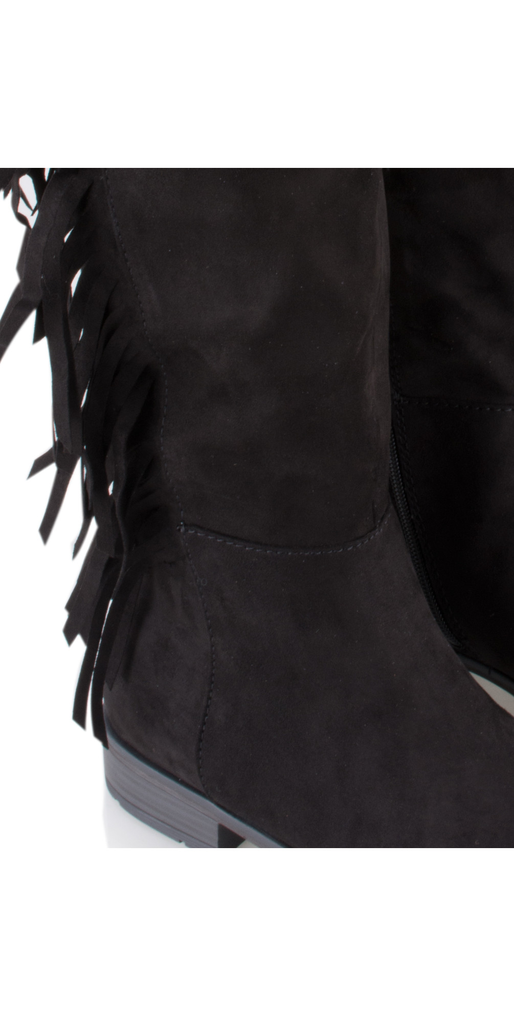 ded019f2096 Marco Tozzi Imit Suede Tassel Long Boot in Black