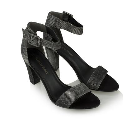 Marco Tozzi Textile Ankle Strap Shoe - Blue