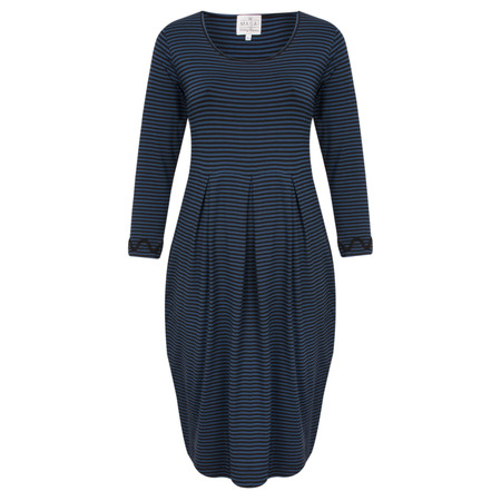 Masai Clothing Gizel Striped Tunic Dress - Blue