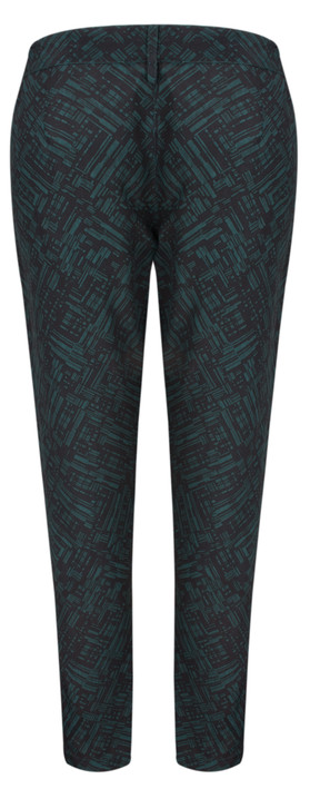 Great Plains Helsinki Contrast Trim Trouser ALPNE GRN/BLK CMB