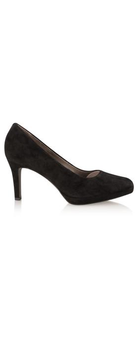 Tamaris  Leather Court Shoe Black