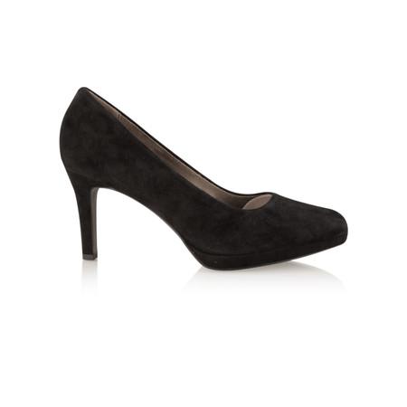 Tamaris  Leather Court Shoe - Black