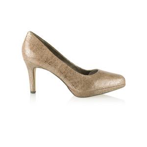 Tamaris  Leather Metallic Court Shoe