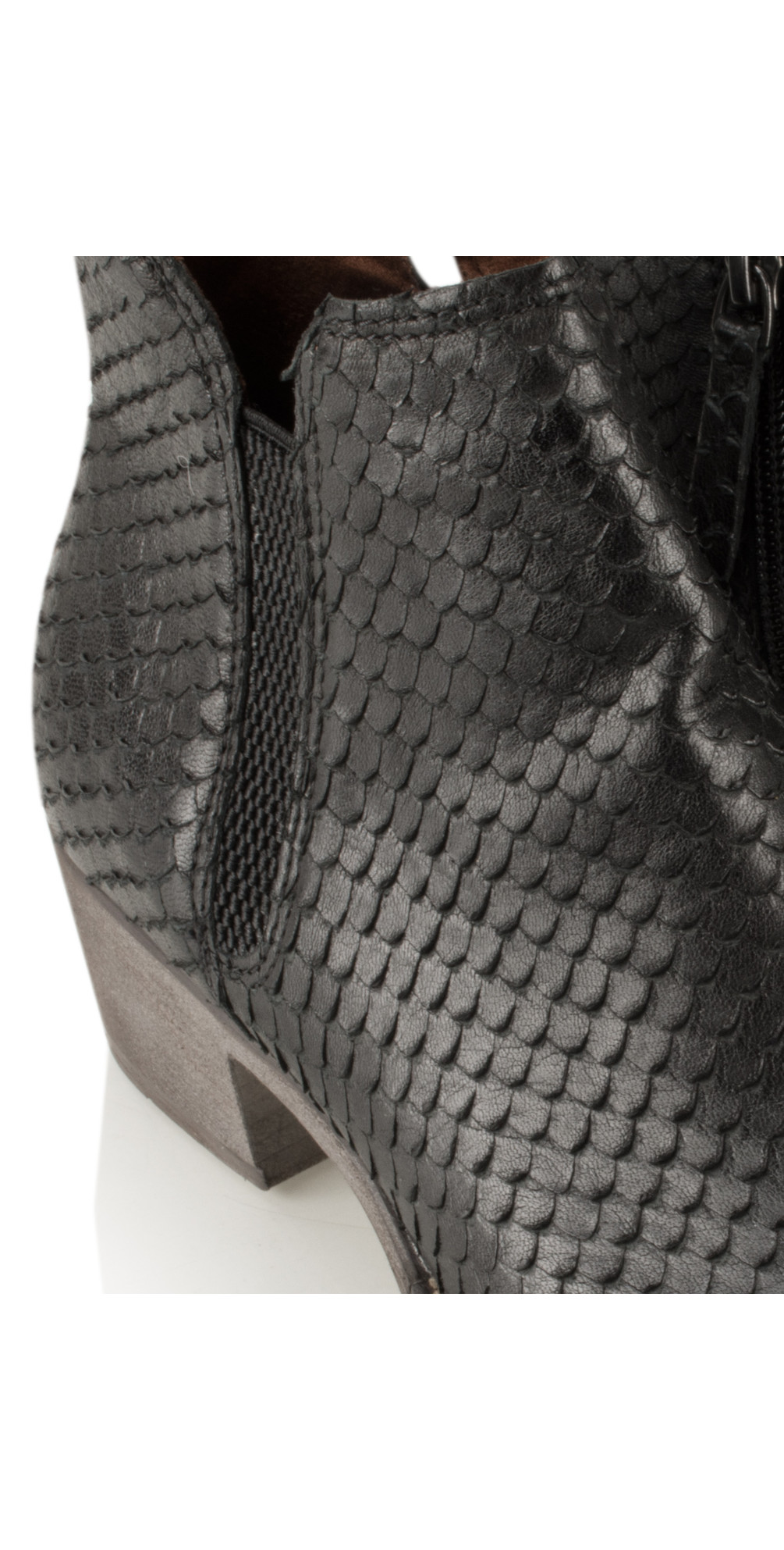 Textured Leather Ankle Boot main image