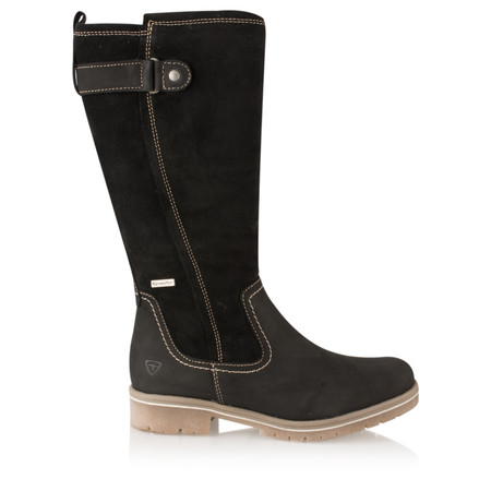 Tamaris  Leather Sympatex Long Boot - Black