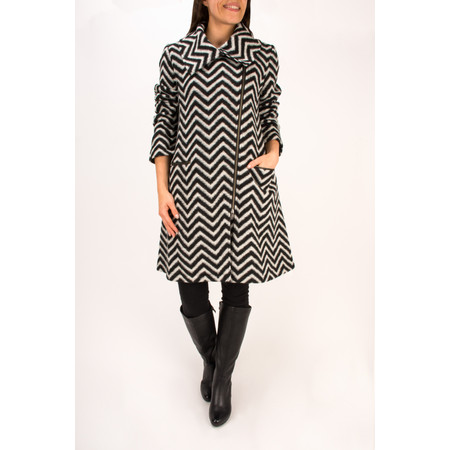 Masai Clothing Monochrome Tilly Coat - Black