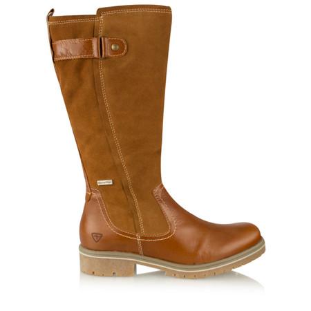 Tamaris  Leather Sympatex Long Boot - Black